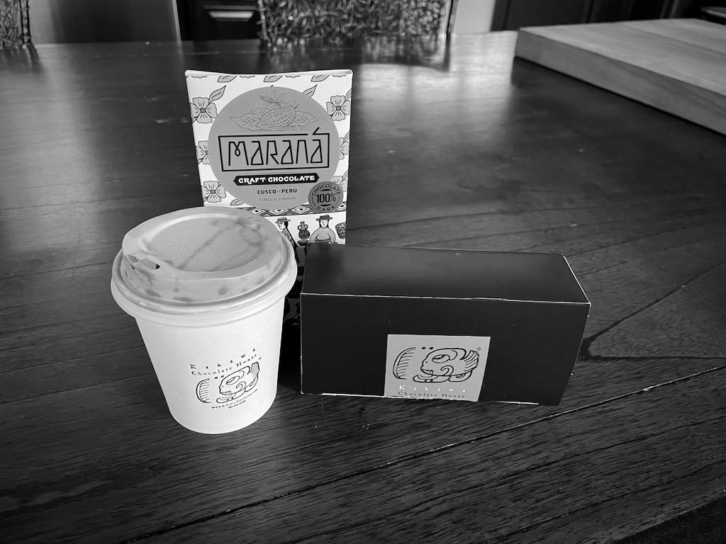 Amazing sipping chocolates and 100%-cocao/zero-sugar bars from Kakawa Chocolate House.