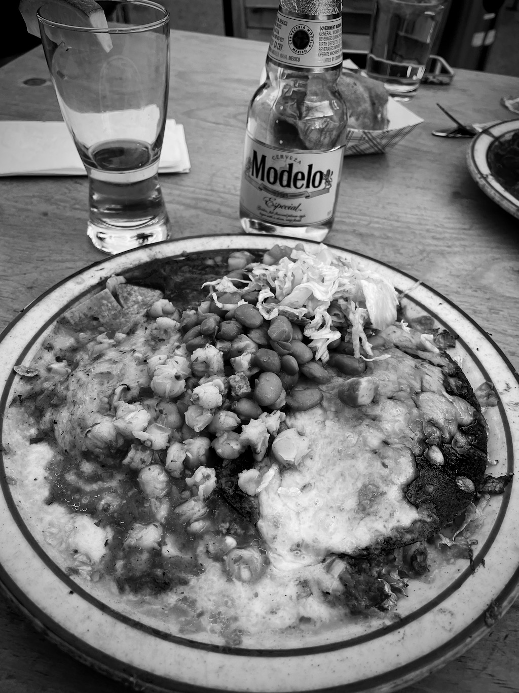 Enchiladas at The Shed, which were very close to as good as La Choza.