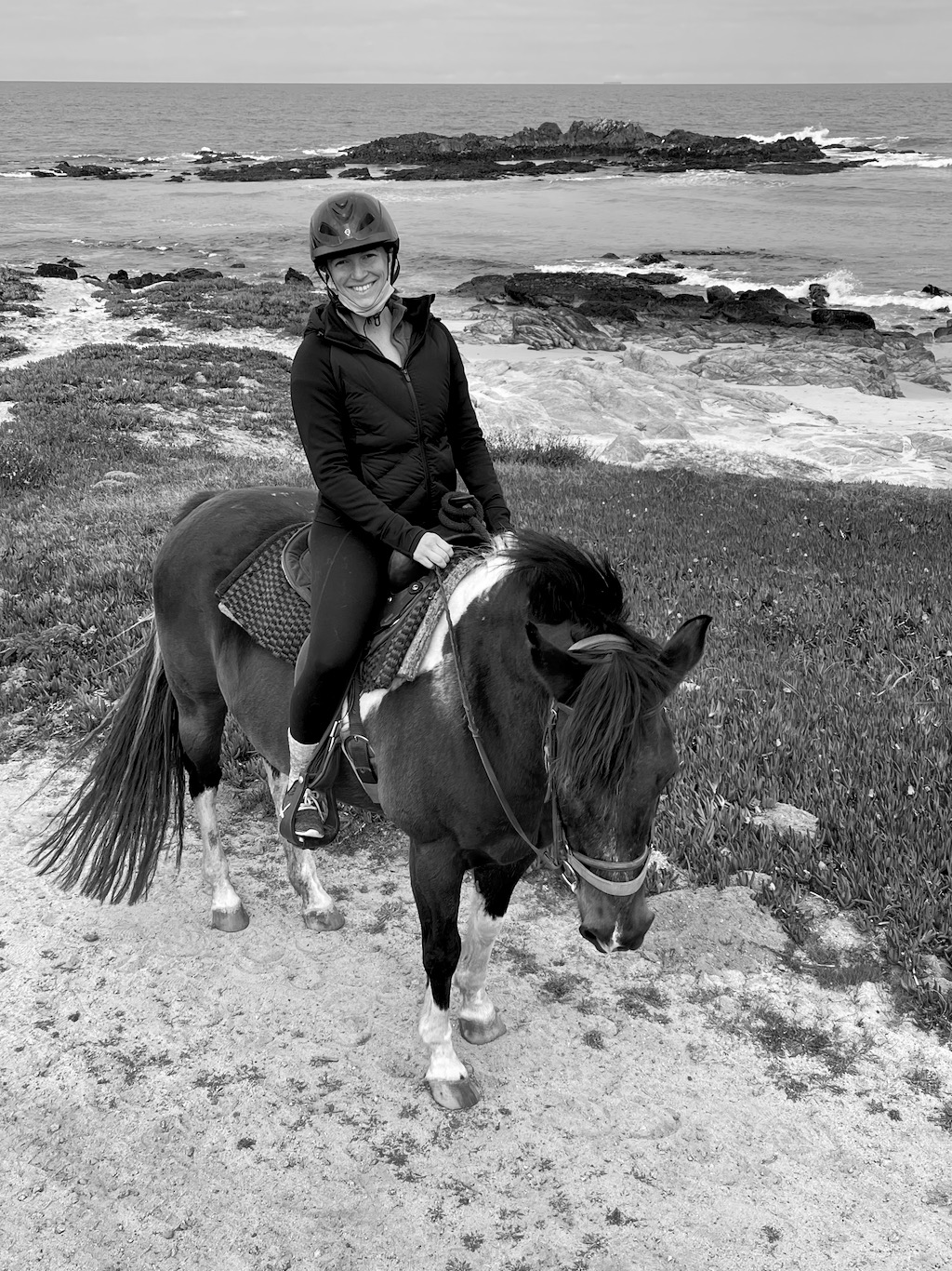 Shelby horseback riding.