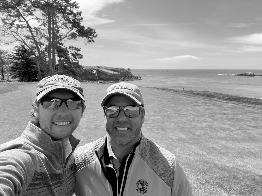 Golfing at Pebble Beach. Hole 5.