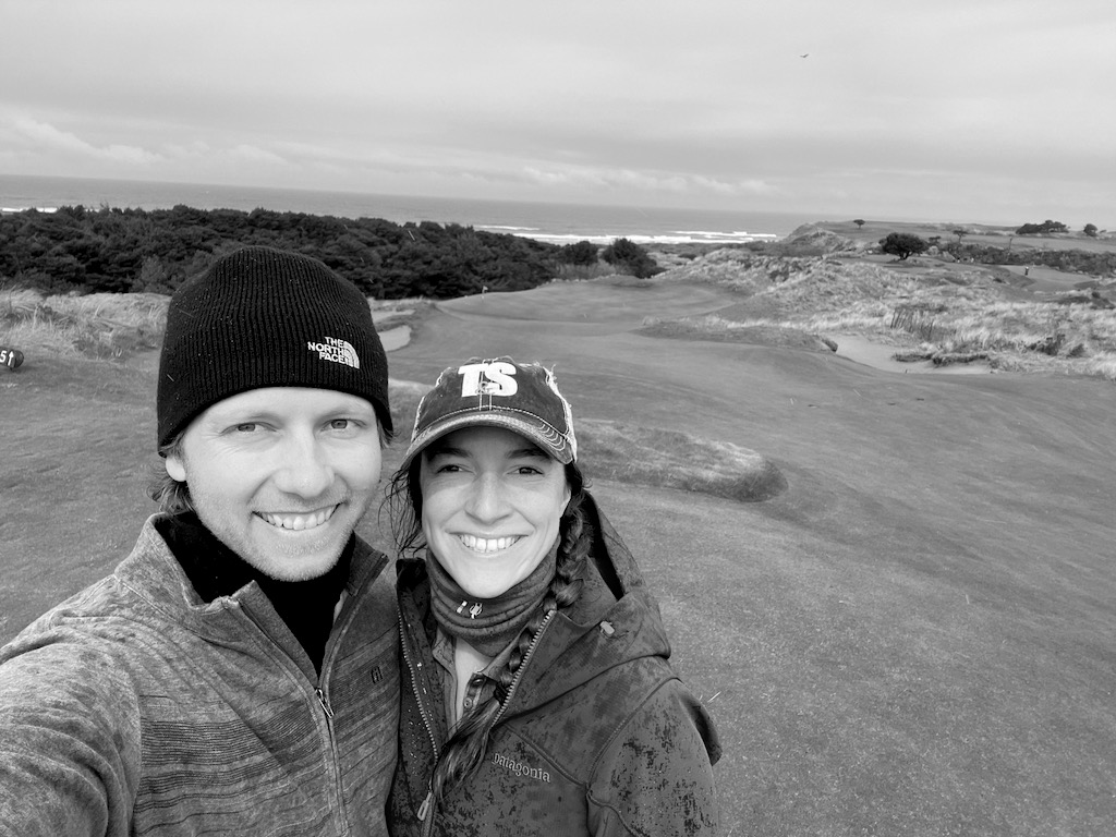 Our round was a fun date. We ate at the pub at Bandon Dunes after, which is where Shelby got the pot pie in the picture above. We got a little wet, but that's part of the true Scottish golfing experience. If Skutull was allowed on the course (like many courses in the UK allow), this would have been a perfect family golfing day.