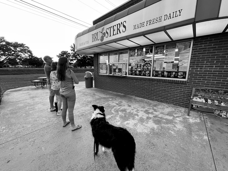 Shelby's Dad spoiled Skutull with numerous trips to get ice cream. This was one of their favorite spots.