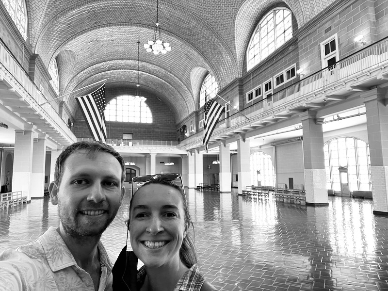 Ellis Island immigration hall. My ancestors arrived on the island twice and were sent back to Europe.