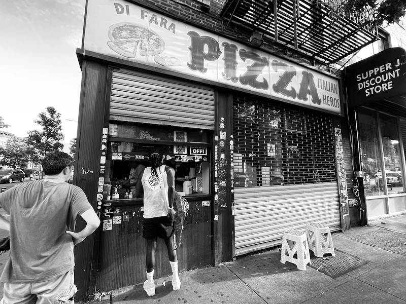 Famous NYC pizza.
