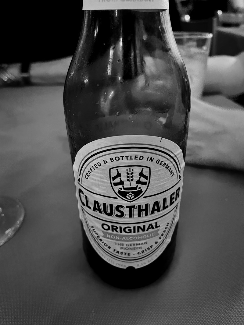 My first alcohol-free beer.
